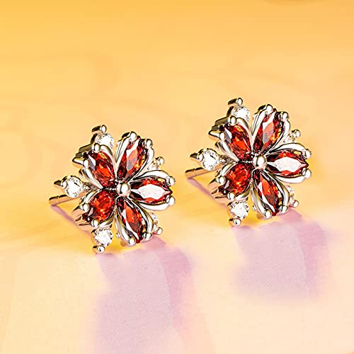 SHIYONG Linda Chica Amatista Pendientes de Flor de Cerezo Pendientes de Flor de Moda Coreana Pendientes