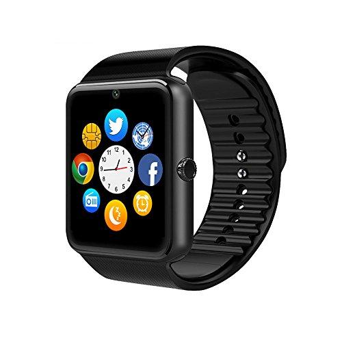 Smart Watch, culturesin GT08Touch Screen Bluetooth braccialetto orologio con fotocamera Sim Slot Card contapassi analisi controllo del sonno per android (funzioni) e IOS (Adattatore funzioni)