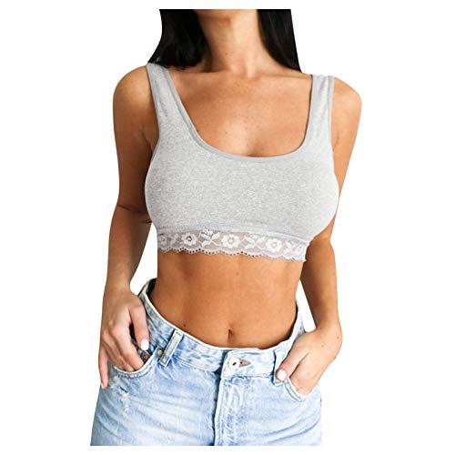 Sexy Women Half Lace Bra Fashion Solid Color Classic Confident Sports Breathable Camisole Bra Ladies Corset Top