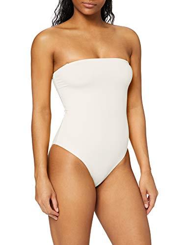 Ivy Revel DE Straight Neckline Swimsuit bañadores, Blanco (Off White 101), 40 (Talla del Fabricante: 38) para Mujer