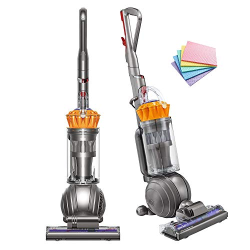 Dyson Ball Multi Floor Bagless Upright Corded Vacuum Self-adjusting Cleaner Head Strongest Suction of Any Vacuum Ball Technology Hygienic Bin Emptying Instant-release Wand(Yellow)+ iCarp Sponge Cloths