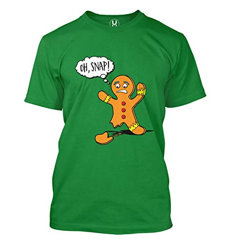 Oh Snap! - Gingerbread Man Cookie Funny Men's T-Shirt (Kelly, XX-Large)