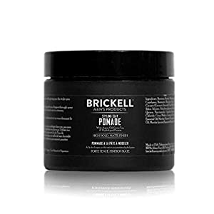 Beauty Shopping Brickell Men's Styling Clay Pomade For Men, Natural & Organic