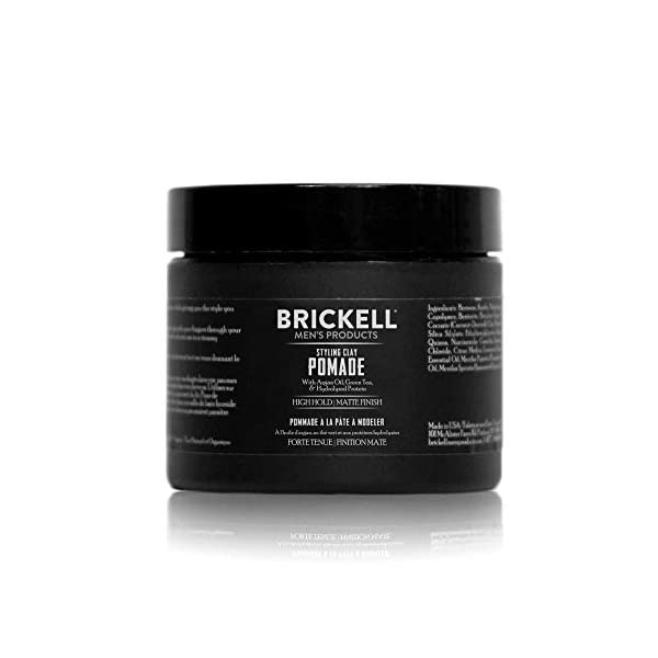 Beauty Shopping Brickell Men's Styling Clay Pomade For Men, Natural & Organic with Strong Hold