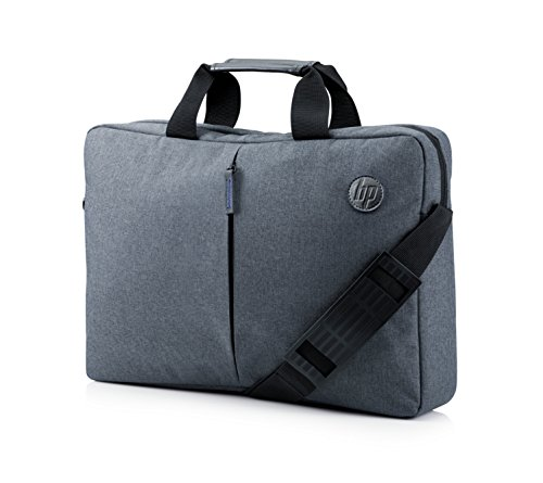 HP Essential Top Load 15.6' - Funda bandolera para portátil de hasta 39,6 cm, color gris