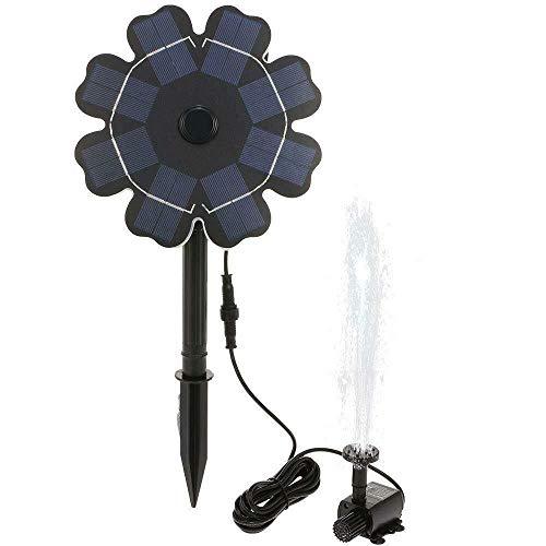 HGXC Bomba Solar sin escobillas en Forma de Flor para BirdBath, jardín, Piscina, Estanque, Acuario, Fuente, Ciclismo de Agua, no Requiere Electricidad