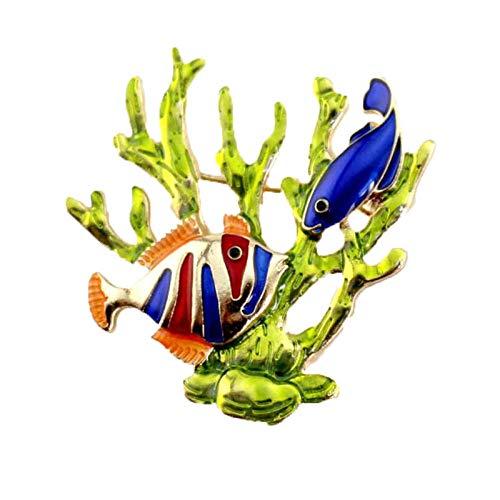 kliy Broschen & Anstecknadeln In Bijouteriemode Brosche Schmuck Korallen Tropischen Fisch Broschen Schal Schnalle Frauen Accessoire