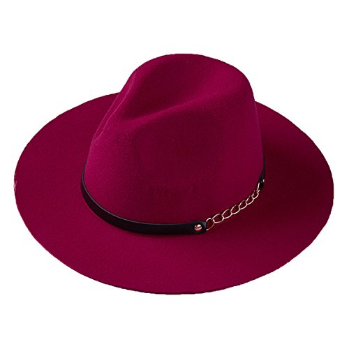 Las Mujeres Elegantes Sombreros De Ala De Lana Retro Sombrero Flexible Cubo...