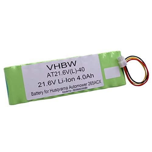 vhbw Akku für Rasenroboter Rasenmäher passend für Husqvarna Automower 265, 265 ACX (4000mAh, 21.6V, Li-Ion)