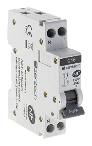 Disjoncteur PH/N - 16A NF - Zenitech