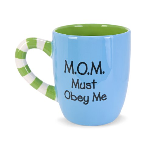 Mom Must Obey Me Blue Mug