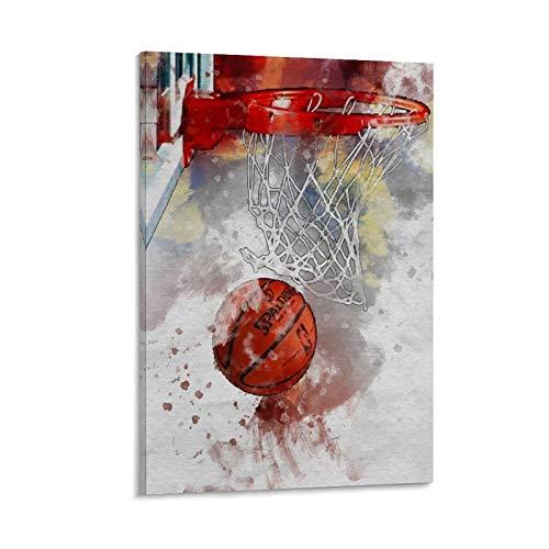 Póster artístico de baloncesto con impresión artística para pared con imagen moderna para habitación familiar, 20 x 30 pulgadas (50 x 75 cm)