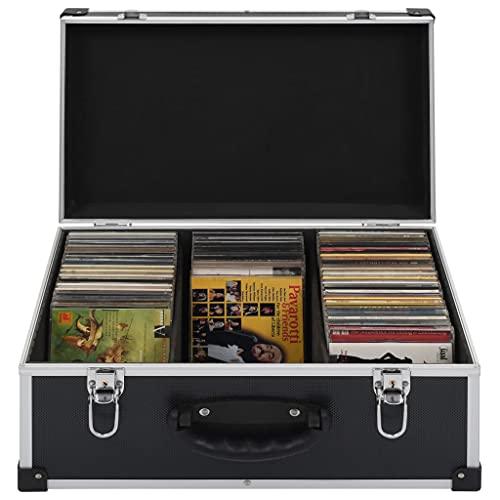 Cd-koffer voor 60 cds aluminium ABS zwart Cd-/dvd-organizers Afmetingen: 43 x 29,5 x 18,5 cm (L x B x H)