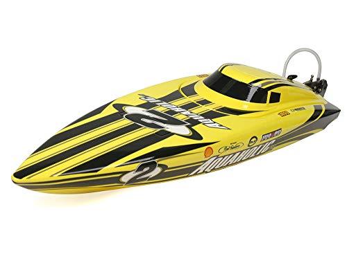 H-King Marine Aquaholic V2 Brushless RTR Deep Vee Racing Boat 730mm (Yellow/Back)
