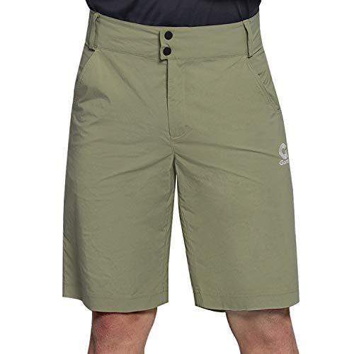 Gonex Herren Shorts Schnelltrockend L, Atmungsaktive und Elastische Kurze Hose mit Loser Passform, Cargo Shorts Sportshorts für Jogging, Gamping, Tranning und Alltagskleidung, Armeegrün