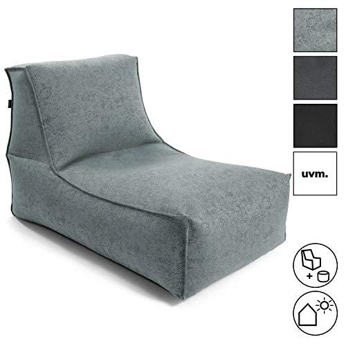 mokebo® Sitzsack 'Der Sundowner', kleine Indoor & Outdoor Liege oder Relaxliege, Made in Schwarzwald, Sitzsack, Webstoff in Aqua 072