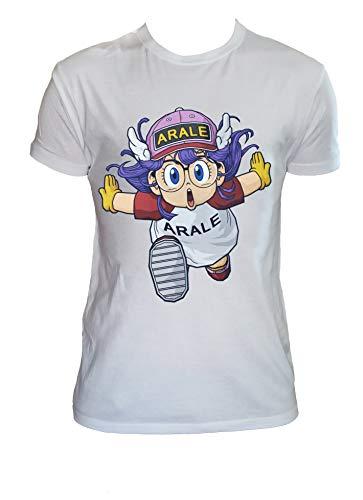 Desconocido T Shirt Arale Dr. Slump Hombre Niño Anime Camiseta Dibujos Animados de los Años 90, Hombre - 2XL