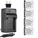 Kastar Battery (4-Pack) and Charger Kit for Fujifilm NP-45 NP-45A NP-45B NP-45S and Fujifilm FinePix XP20 XP22 XP30 XP50 XP60 XP70 XP80 XP90 T350 T360 T400 T500 T510 T550 T560 JX500 JX520 JX550 JZ310
