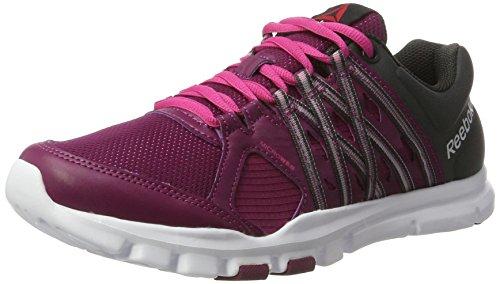 Reebok Yourflex Trainette 8.0, Zapatillas de Gimnasia Mujer, Morado (Rebel Berry/Coal/Rose Rage/White), 37