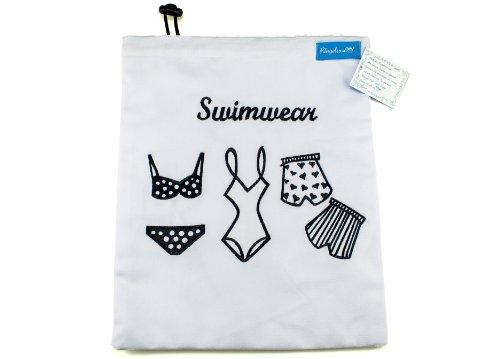 Ringelsuse - Schwimmbeutel Schwimmtasche für Mädchen und Frauen, Swimbag, Bikini-Bag für nasse Schwimmsachen, Badeanzug, Badehose, Badesachen, wasserabweisend gefüttert
