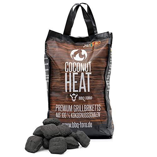 BBQ-Toro Coconut Heat   Premium Grillbriketts aus 100% Kokosnussschalen   10 kg   Kokosnuss Holzkohle für Dutch Oven   Kokosnussbriketts