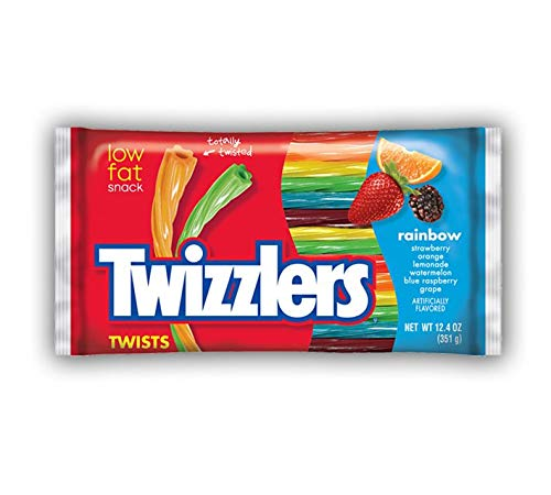 Twizzlers Rainbow Twists Large Pack 351g x1