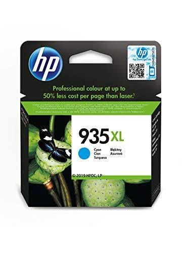 HP 935XL C2P24AE, Cian, Cartucho de Tinta de Alta Capacidad Original, compatible con impresoras de inyección de tinta HP OfficeJet 6820; HP OfficeJet Pro 6230, 6830, cian