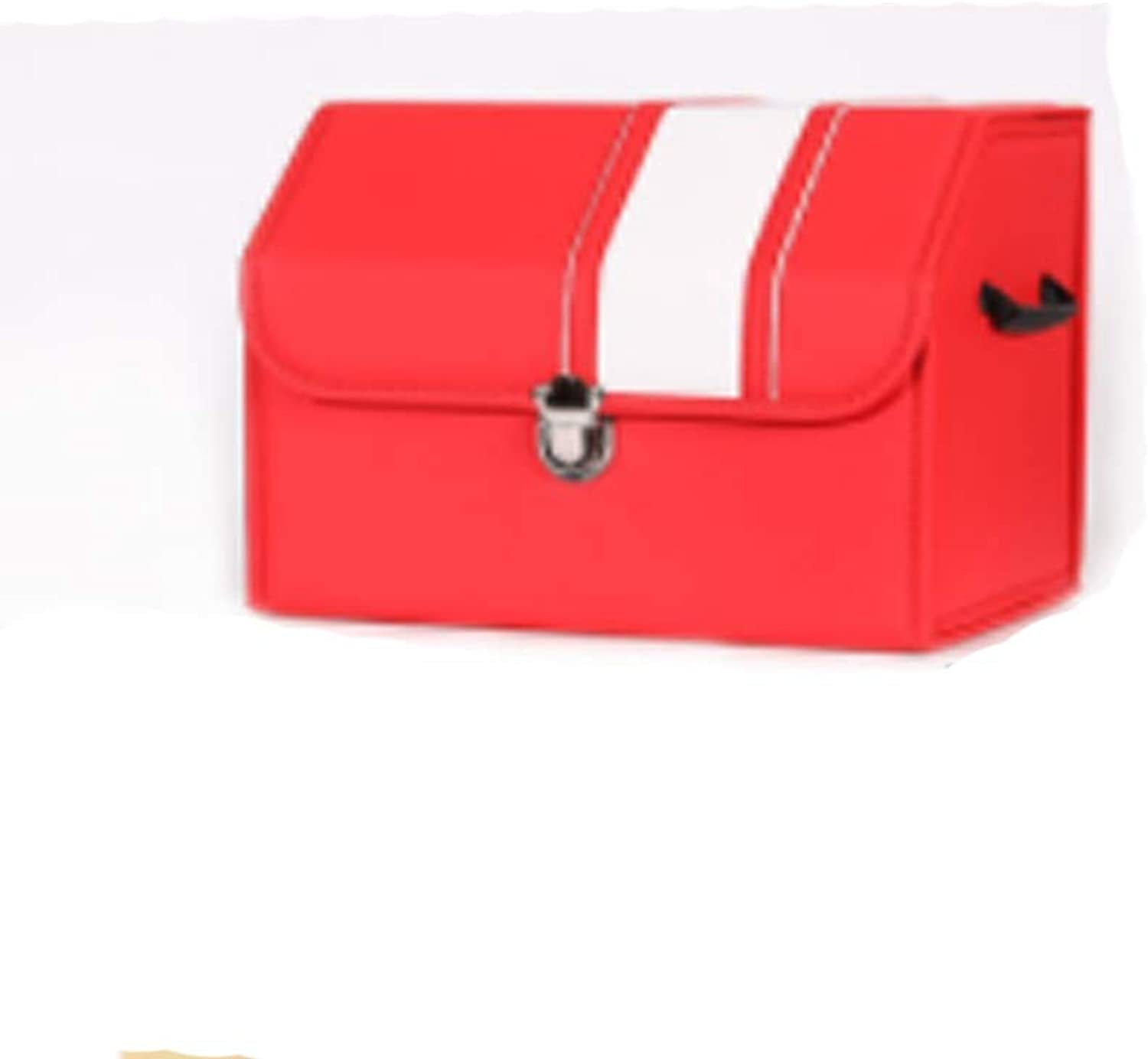 Storage box Car Car Storage Box Trunk Storage Box Storage Box Car Storage Box Supplies Create Folding Car Storage Box Gift (color   Red, Size   45  32  30cm)