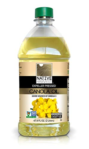 Native Harvest Expeller Pressed Non-GMO Canola Oil, 2 Liter (67.6 FL OZ)