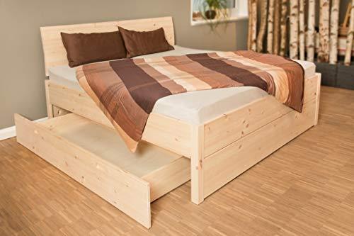 Stauraumbett Zirbe mit Bettkasten (180 x 200 cm, 2 Bettkästen)