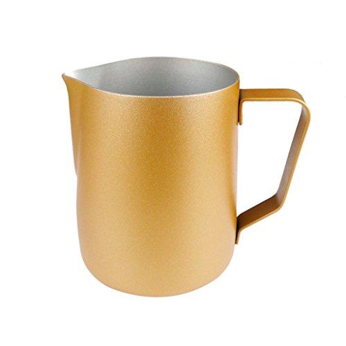 Générique 350ml Veere à d'eau Épais INOX Moussage à Café en Acier Latte Art De Pot à Lait Pichet - Or