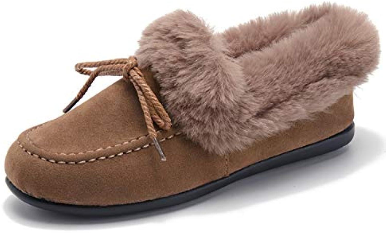 HOESCZS Damenschuhe Peas schuhe Damen Winter Winter Damenschuhe Snow Stiefel Flache Stiefel Bow Warm Cotton schuhe  erstklassige Qualität