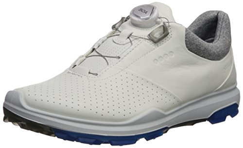 ECCO Men's Biom Hybrid 3 BOA Gore-Tex Golf Shoe, White/Dynasty Yak Leather, 42 M EU (8-8.5 US)