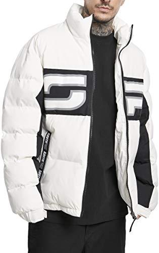 Southpole Herren Puffer Winterjacke SP Jacket, Weiß, S