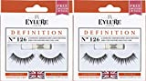 Eylure Dramatic False Lash, Style No. 126, Reusable, Adhesive Included, 2 Pairs