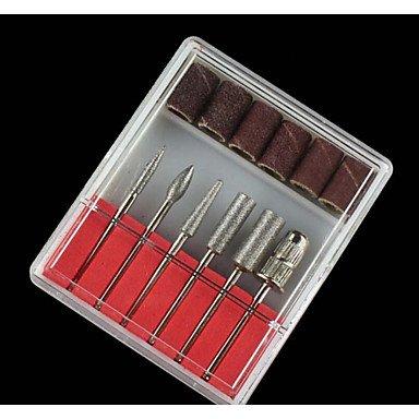 MZP 6 styles / set professionnel polissage nail art meulage des outils de tête ongles art céramique forets électrique de haute qualité