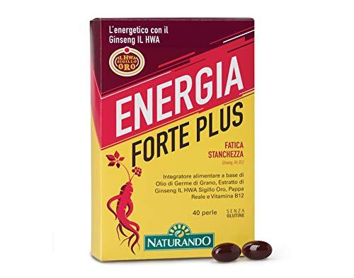 NATURANDO ENERGIA FORTE PLUS 40 PERLE Integratore alimentare per contrastare la stanchezza fisica e mentale