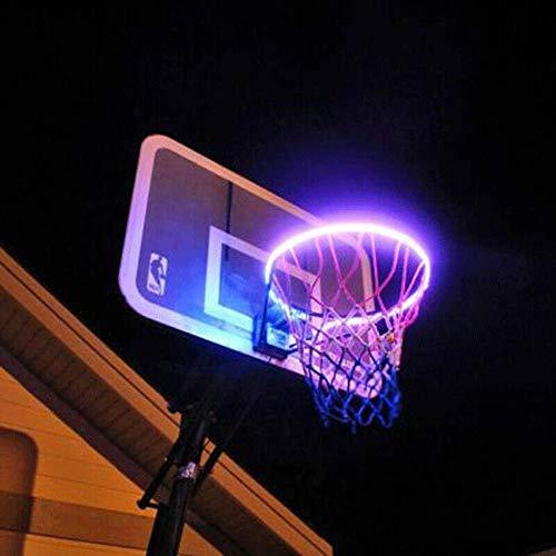 AXJX Luci LED per canestro da Basket Luci LED energia Solare Batteria 7 Tipi Regola la modalità