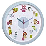 TFA Dostmann LITTLE ANIMALS Kinder-Wanduhr mit Tier-Motiven