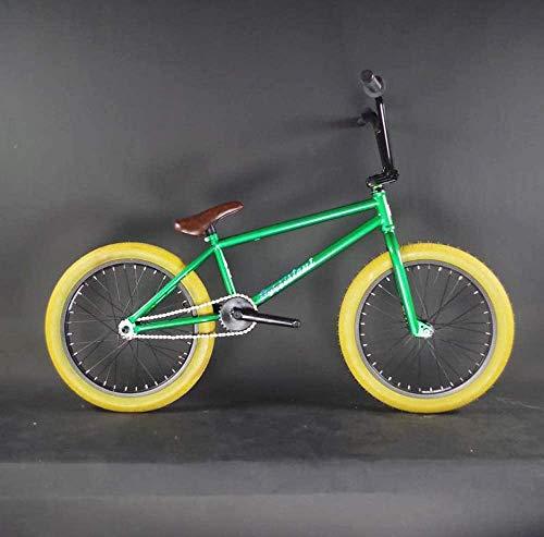 Bicicletta durevole di alta qualità Adulti da 20 pollici Freestyle BMX Bike, adatta Stunt Azione BMX biciclette for principianti-livello for i più esperti della pagina d'acciaio via BMX Telaio in lega