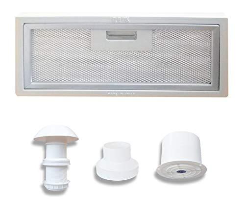 AVDISTRIBUTION Dunstabzugshaube für Wohnmobil - Lux - erhältlich in der Version mit oder ohne LED-Leuchten (Set Dunstabzugshaube 12 V)