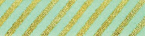 ヌノデコテープ リッチストライプ グリーン 1.5cm×1.2m KAWAGUCHI 河口