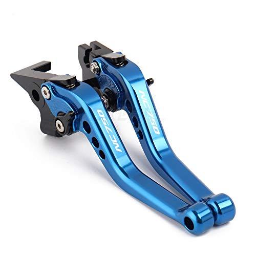JDDRCASE Motorrad-Zubehör Kurzgriff Dreh Bremsen-Kupplungs-Hebel for Honda NC750 NC 750 NC750 S/X 2012 2013 2014 2015 (Farbe : Blau)