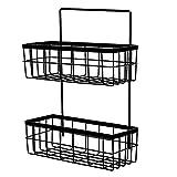 shadiao 2 Levels Portable Metal Wire Wall OrganizerFarmhouse Wall Decor Storage Shelf Dividersfor Bathroom