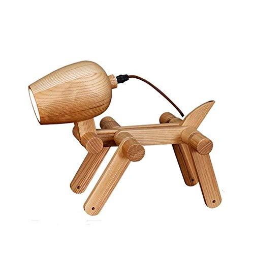 NACHTTISCHLAMPEN SOAR Tischleuchten Folding Schreibtischlampe, Holz Dog-Shaped Beleuchtung dekorative Tischlampe Postmodern Wohnzimmer Schlafzimmer Kinder Schreibtisch Lights Junge Mädchen