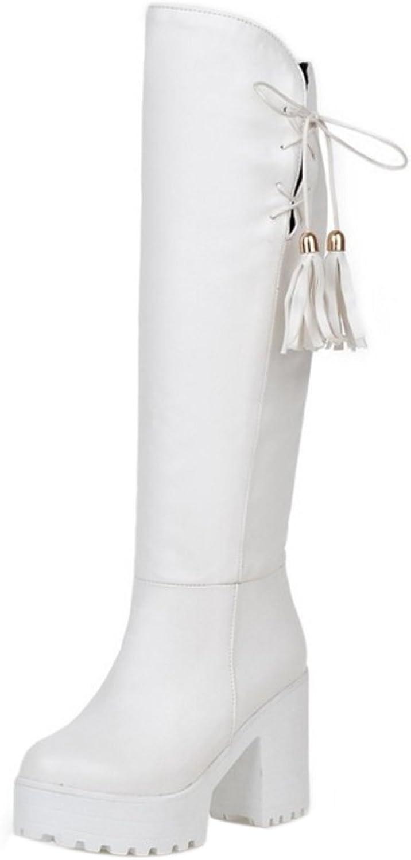 TAOFFEN Women's Mid Boots Pull On