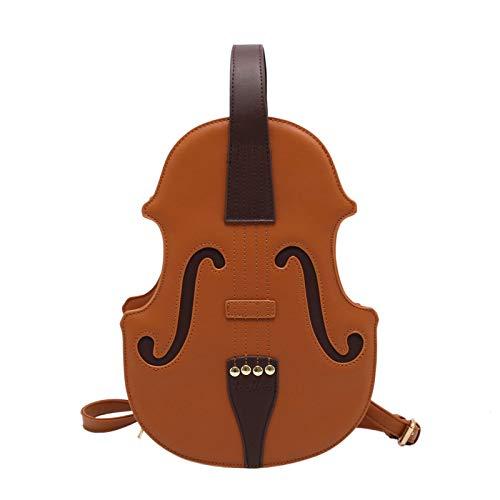 PTMD Women Violin Shape Backpack PU Leather School Bookbag Fashion Daypack Rucksack Handbag for Teenager Girls