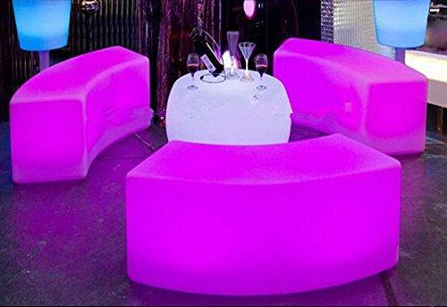Gowe étanche lumineux arqué Serpent Chaises Combinaison Salon Canapé Barre LED meubles Explosion modèles à vendre Tabouret de bar