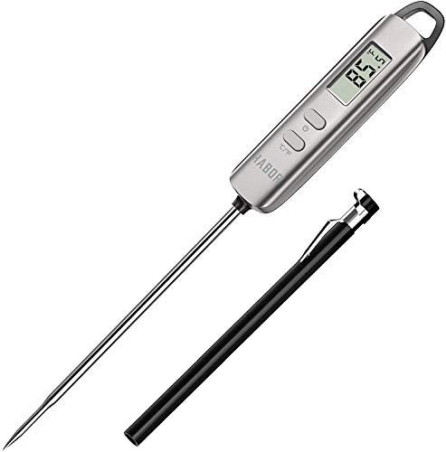 Termómetro de lectura instantánea, termómetro de cocina digital, termómetro de dulces con sonda superlarga para la cocina, barbacoa, fumador, carne, aceite, leche, yogur, temperatura