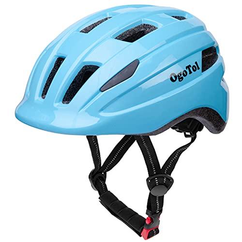 Kids Helmet Toddler Helmet Adjustable Child Bike Helmet Youth Kids Skateboard Cycling Helmet 8-14 Years Old Boys Girls Multi-Sports Helmet (Sky Blue, M(20.5-22 inch))